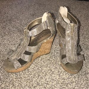 Guess Sparkly Wedges